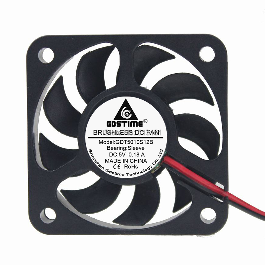 10PCS/Lot GDT Superb 5010S 5V 9 Blades 50mm 5cm Brushless Fan 50mmX50mmX10mm radiator