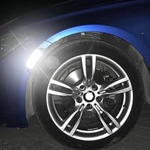 2x углеродное волокно колеса автомобиля Брови АРКА отделка губы полосы крыло Вспышки Защиты