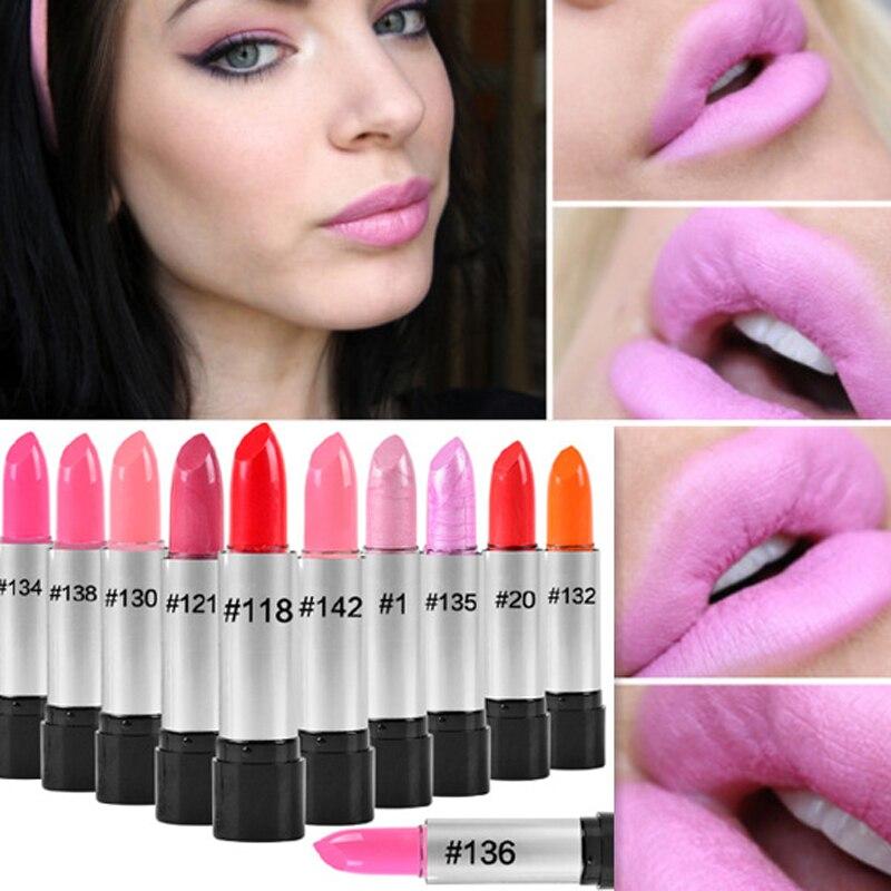 Bescheiden Günstige Mode Make-up Hohe Qualität Lange Anhaltende Pigment Schimmer Nude Lip Stick Kit Wasserdichte Rote Samt Lippenstift Lot Make-up Lippenstift