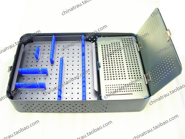 Ortopedia instrumento médico de esterilización caja de almacenamiento caja de aleación de aluminio tornillo y destornillador y cuadro de instrumentos