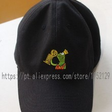 2878e53b67c Kermit None of my Business Strapback Dad Hat Black Frog Sipping Tea LeBron  James(China