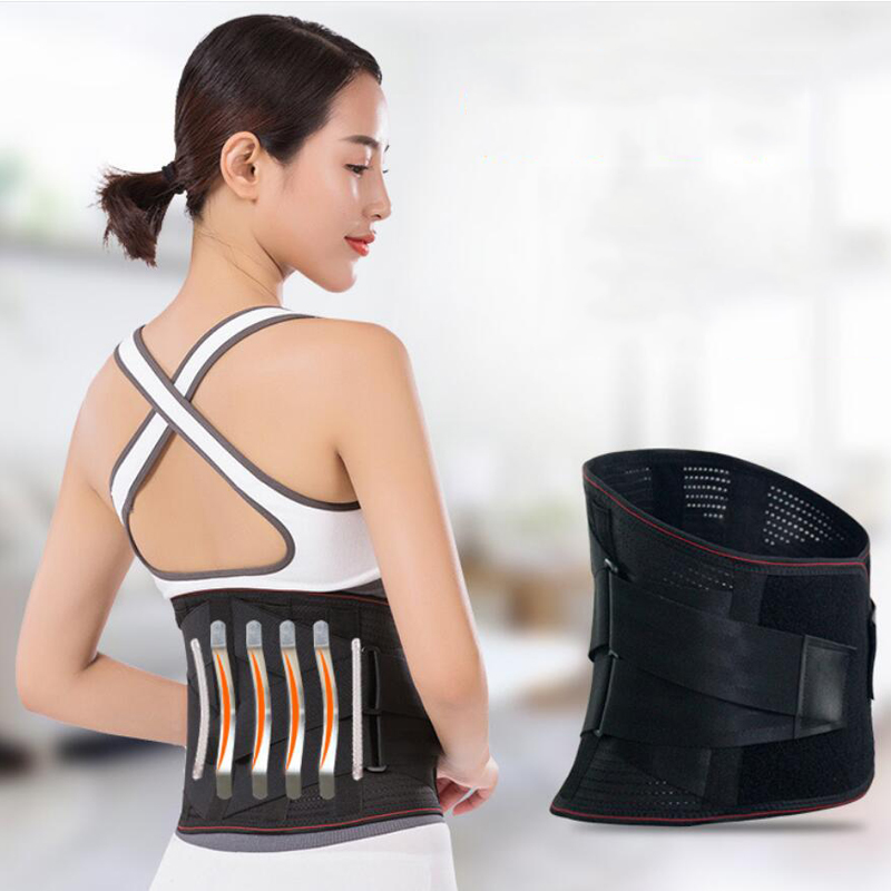 Adjustable Sport Accessories Back Support Brace Belt Double Adjust Back Pain Relief Magnetic Therapy Waist Support For Gym H03
