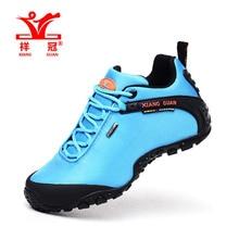 XIANG GUAN Woman Hiking Shoes Athletic Trekking Boots Red Zapatillas Sports Climbing Hike Shoe Outdoor Walking Sneakers 36-39