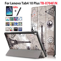 Case For Lenovo TAB4 Tab 4 10 Plus TB X704F TB X704N Smart Cover Funda Tablet