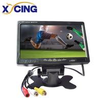 XYCING 7 inch TFT LCD Color 800*480 Car Monitor for Surveillance Camera Car Rear View Camera 2 AV Input Car Rear View Monitor