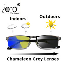 Photochromic Sunglasses Chameleon Lens Yellow Blue Light Blocking Compu