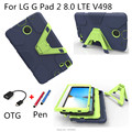 "Retina Kids Baby Safe Armor Shockproof Heavy Duty Silicone Hard Cover For LG G Pad 2 8.0"" V498 Tablet cover case for lg g pad2 8"