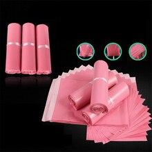 100% новый материал, пластиковый пакет для доставки, полиэтиленовый пакет для отправки, розовый полиэтиленовый пакет для отправки почтовых отправлений, полиэтиленовый пакет для конвертов