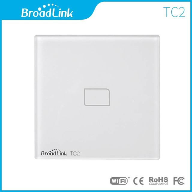 New EU UK Standard Broadlink TC2 Wireless 1 Gang Wall Light Switch Wifi Remote Control Touch Screen Switch Smart Home Automation