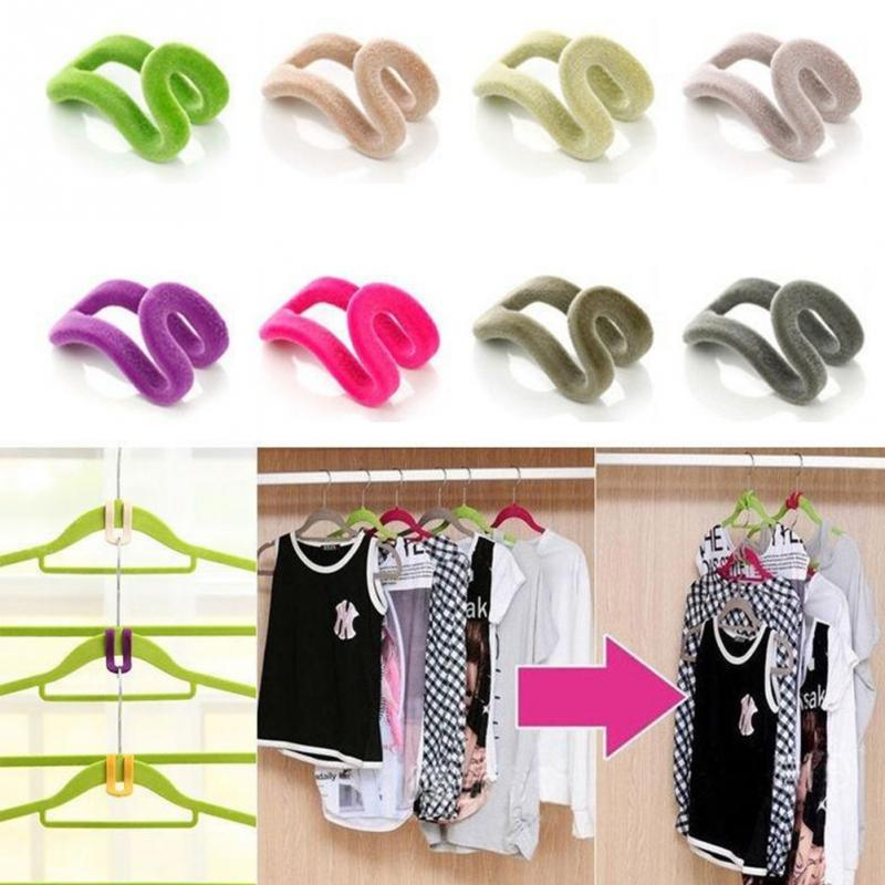 Image 3 - Creative 1Pc Mini Flocking Coat Hooks For Clothes Hanger Closet Organizer Potable Color Travel Clothes Hanging Hooks #20-in Hooks & Rails from Home & Garden