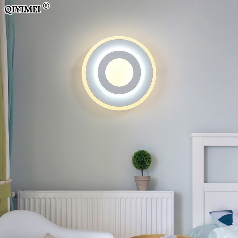 LED Wall Lamps for Bedroom Beside Reading  white or black Wall Lights Indoor Living Room Corridor Hotel Lighting DecorationLED Wall Lamps for Bedroom Beside Reading  white or black Wall Lights Indoor Living Room Corridor Hotel Lighting Decoration