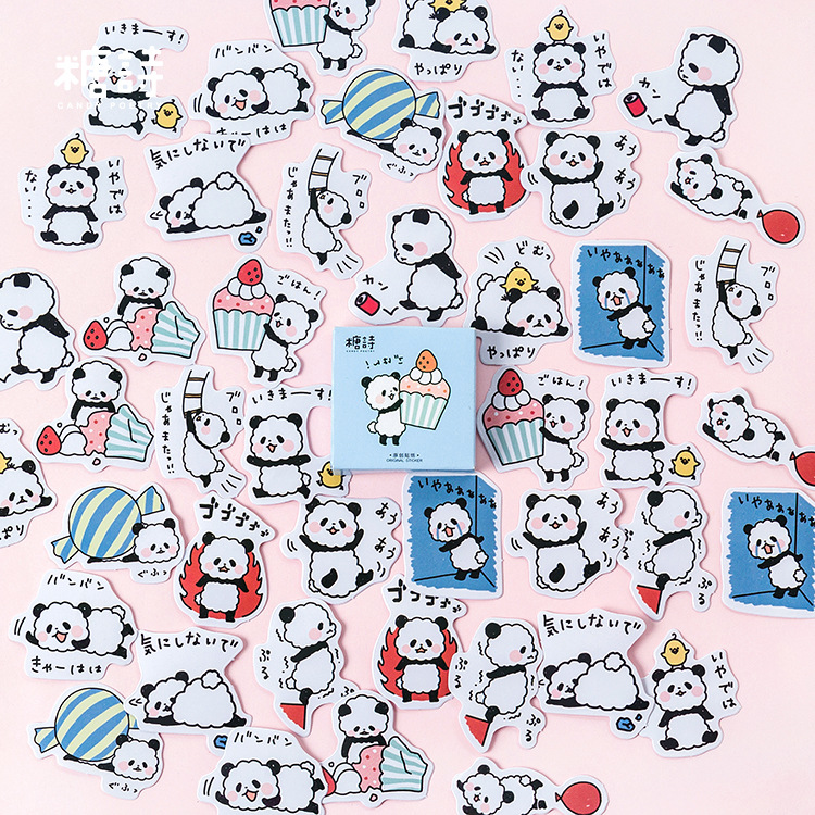 45 Pcs/lot Cute Panda Mini Paper Sticker Decoration DIY Scrapbooking Sticker Stationery Kawaii Diary Label Stickers