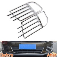 Abaiwai Car Styling Front Fog Light Lamp Cover Frame Grille Trim ABS Chrome Decoration For Tiguan 2013 2014 2015 Car Accessories