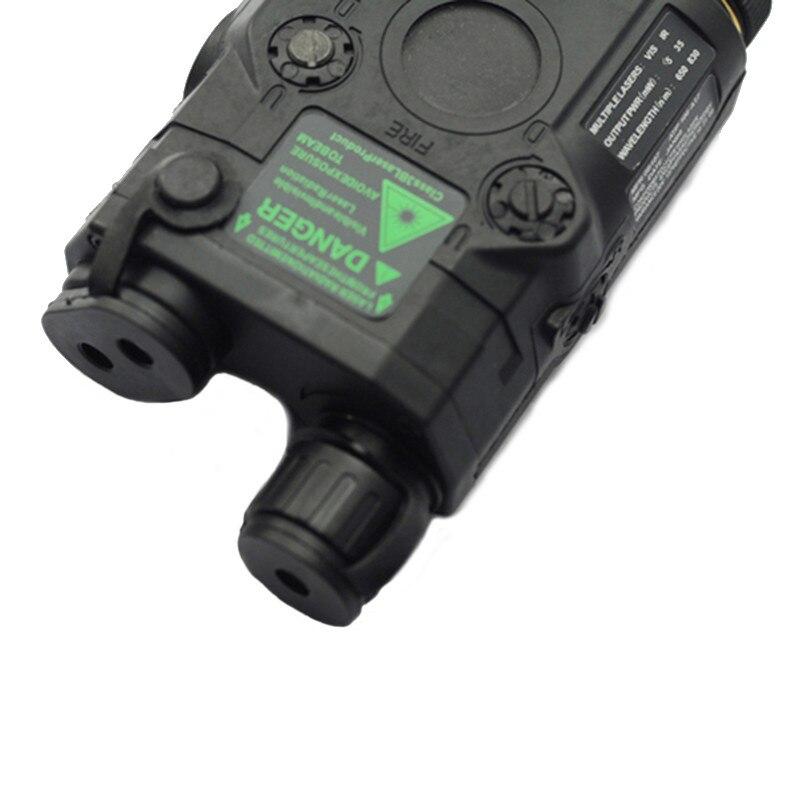 AN/PEQ-15 rojo punto láser blanco LED linterna 270 lúmenes para el Rifle de caza de visión nocturna estándar de 20mm caja de la batería elemento - 6