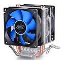 DEEPCOOL ПРОЦЕССОРНЫЙ кулер 2 шт. 8025 вентилятор двойной тепловыми трубками радиатора для Intel LGA 775/115x, AMD 754/940/AM2 +/AM3/FM1/FM2 охлаждения