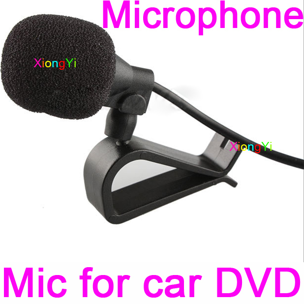 Brandnew Special Car DVD Audio Microphone 3.5mm Jack Plug Stereo Mic Mini Wired External Car Microphone For AutoDVD 3meters long