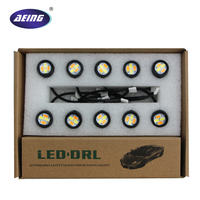 Newest 10pcs Set 23mm Car Styling LED DRL Eagle Eye Daytime Runing Lights Warning Fog Lights