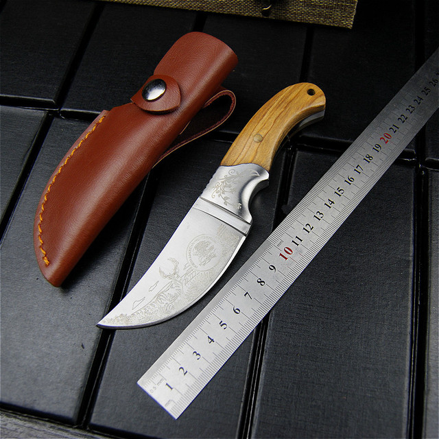 EVERRICH High quality Army Tactical Knife Camping Hunting Knife Shadow Wood Fixed Blade Knife Outdoor Survival Rescue EDC Tools 2