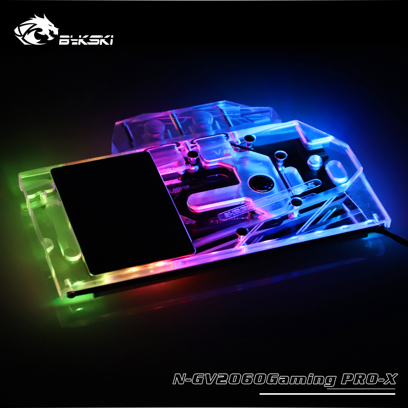 BYKSKI Full Cover Graphics Card Block use for Gigabyte RTX2060 Gaming OC PRO 6G Rev 2