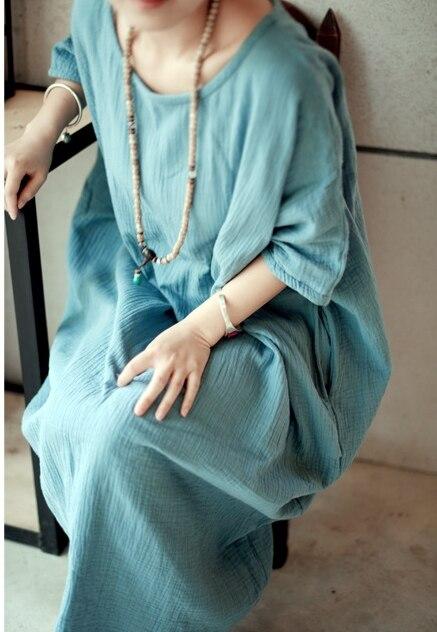 Новое Женское винтажное длинное платье большого размера женское Свободное длинное платье, Роба 19003