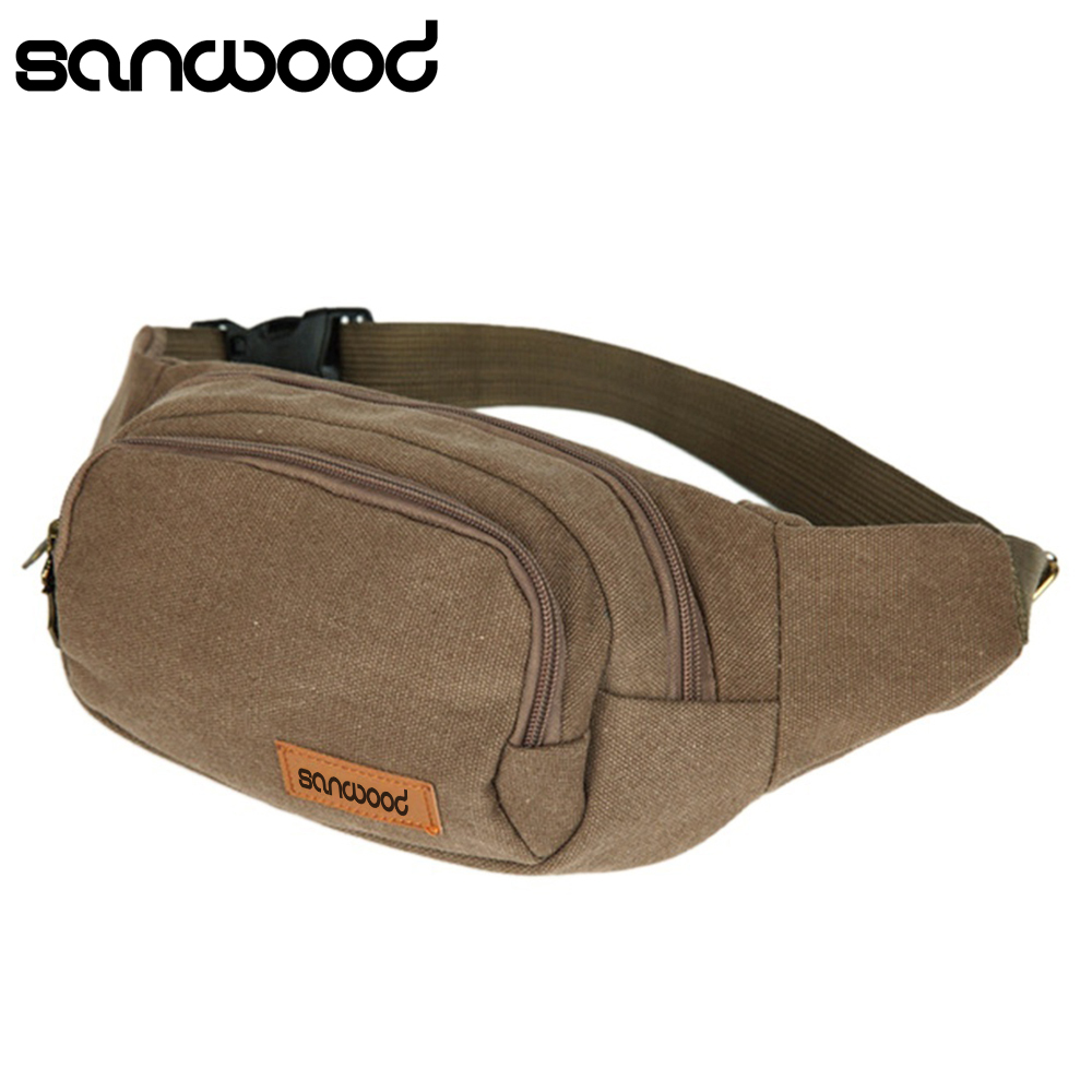 2016 New Arrival Canvas Three Zipper Pockets Fanny Pack Chest Waist Bag with Cell Phone Pouch nike sb толстовка nike sb icon hoodie gfx black m