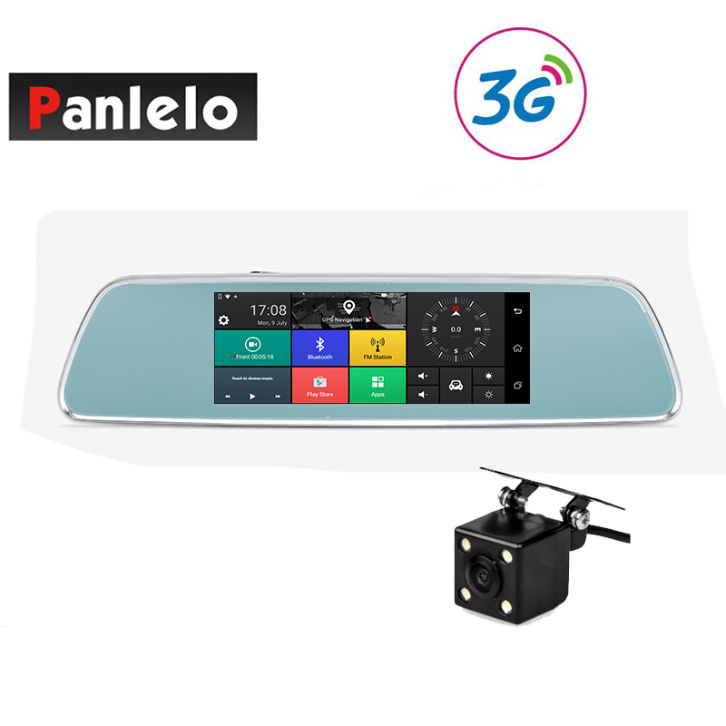 Panlelo V101 Car GPS Navigation Dash Camera Rearview Mirror Cam 3G/4G Internet Wi-Fi 1GB RAM 16GB ROM Android 5.1 APP Control hokfa hkf d3 android 4 2 led projector w 1gb ram 8gb rom wi fi 5 0mp camera black red