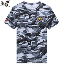 XIYOUNIAO plus size M~7XL 8XL new summer Camouflage army T Shirt Fitne