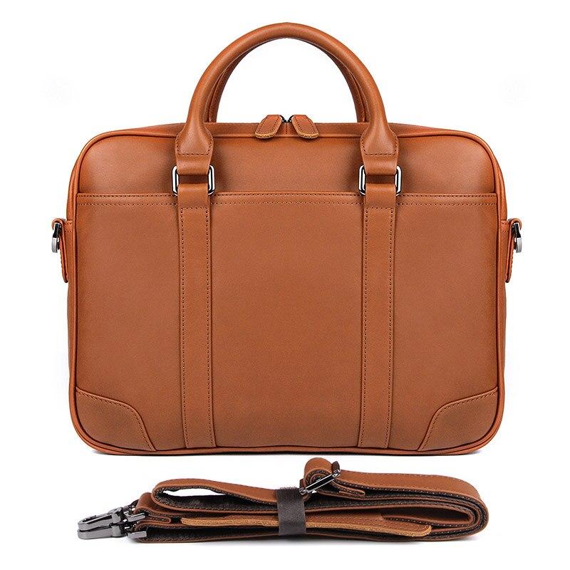 J.M.D Leather Briefcases  Vintage Style Genuine Leather Top Handbag Men's Laptop Bag 7349Q/B-1