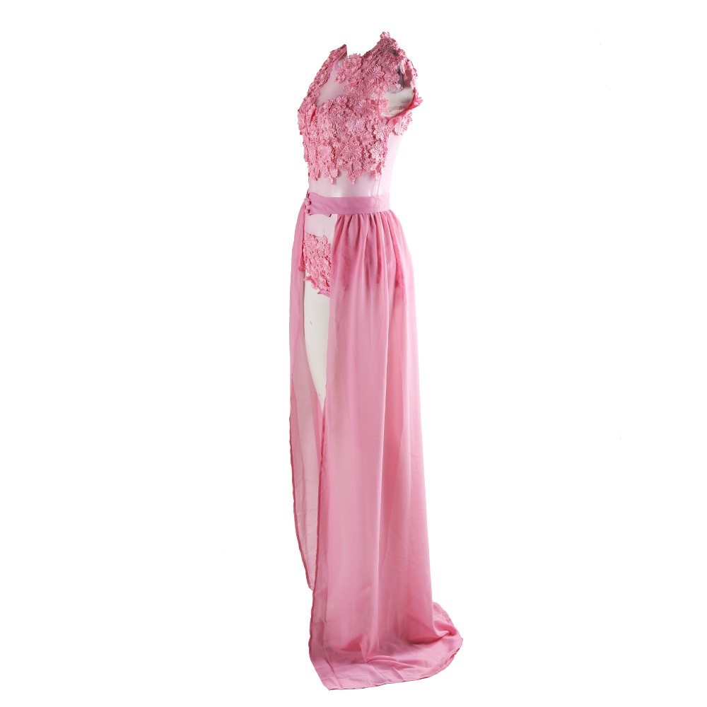 Exotische Thru Rosa Kleid Party Club Roter Teppich Event Maxi in ...