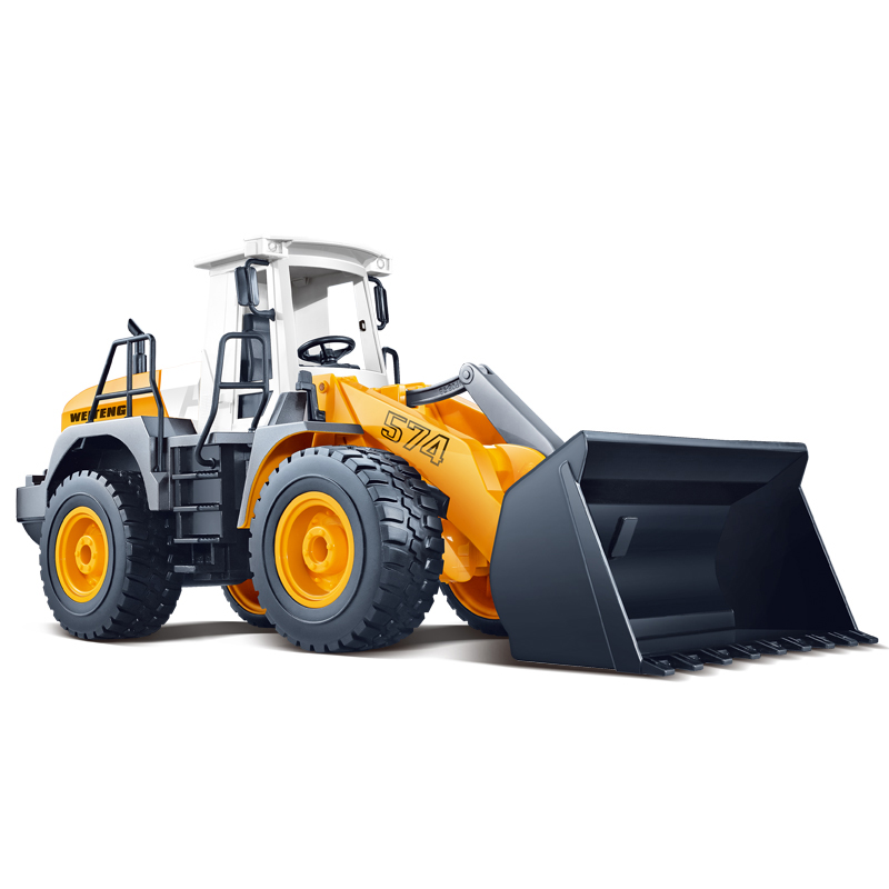 RC Car Machine On The Remote Control Cars 1/18 Plastic Bulldozer Toys RTR Radio Control Cars Construction Vehicle Car For Kids