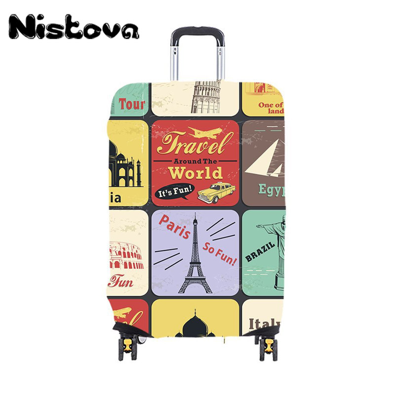Child Cartoon Travel  Luggage Cover Thicken Elastic Color Trolley Suitcase Protective Cover Travel Accessories For 19-32inch