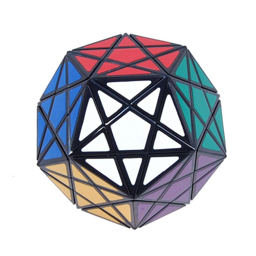 Starminx coin tournant Dodecahedron Cube magique vitesse Puzzle Cubes jouets pour enfants-noirStarminx coin tournant Dodecahedron Cube magique vitesse Puzzle Cubes jouets pour enfants-noir