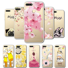 3D Relief Lace Flowers Case Cover For Huawei Honor 7A Pro Silicone Cute Cat 7 A AUM-L29 5.7Coque