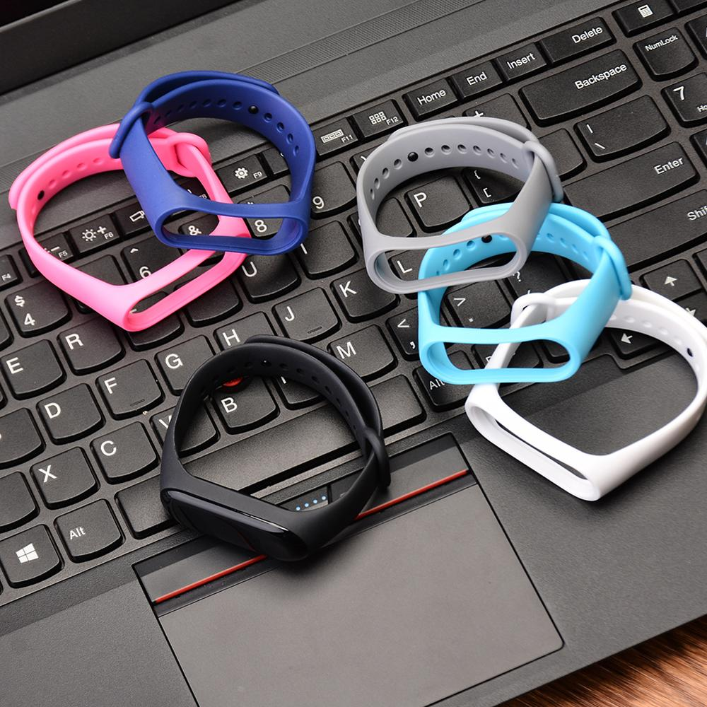 Colorful Silicon Wrist Strap For Xiaomi Mi Band 4 Bracelet Straps For Xiaomi Mi Band 4 Accessories Miband 4 Replacement TPU Band