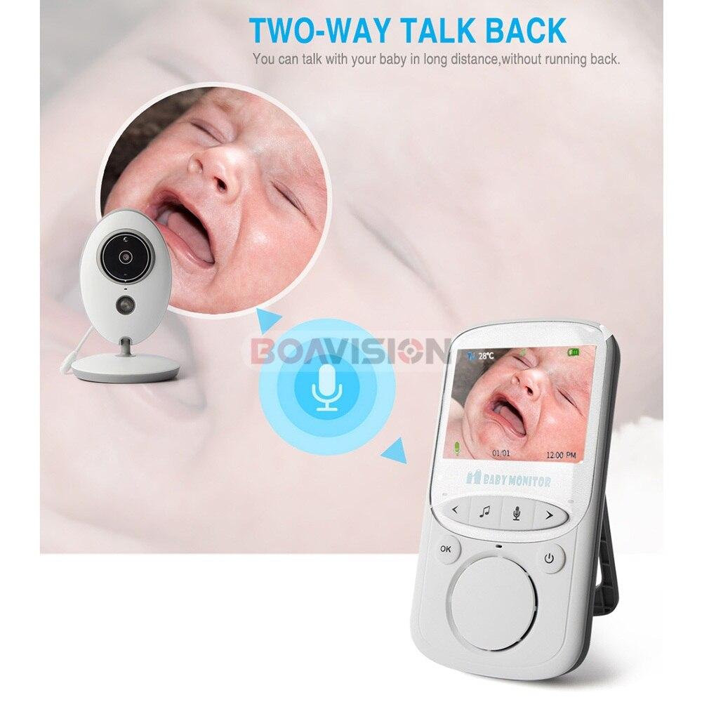 BOAVISION VB605 portátil de 2,4 pulgadas LCD Wireless Baby Monitor Video Radio cámara de niñera intercomunicador IR Bebe Cam Walkie hablar con la niñera - 3