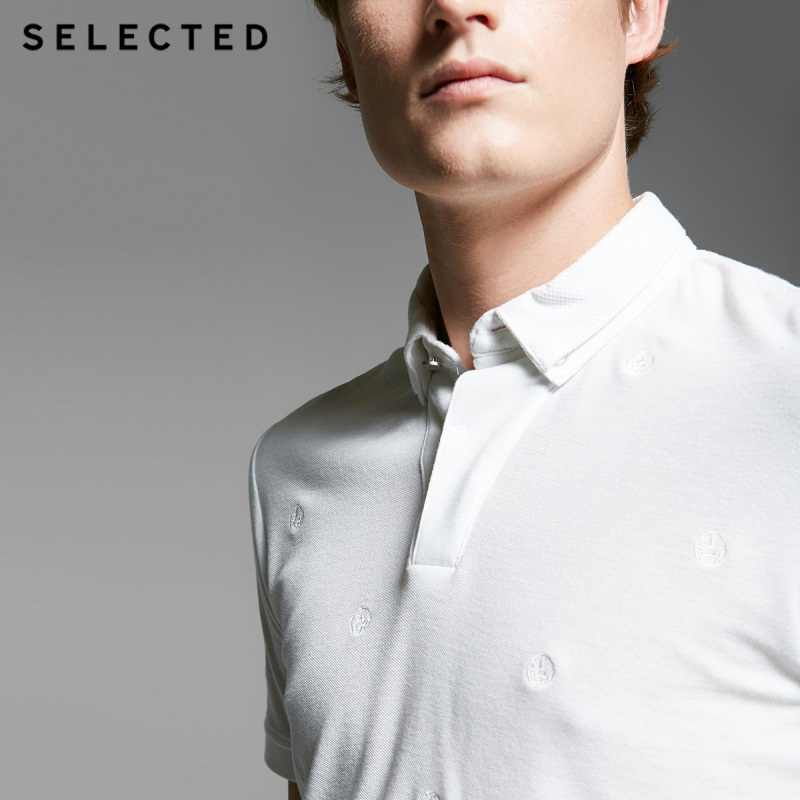נבחר גברים של כפול מחודד סרוג פולו קצר שרוולים חולצה SH | 416206003