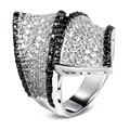 2017 black cz ring New top-rated sale items Black and clear crystal Rings for Women Jewelry Cubic Zirconia Trendy Ring for Women