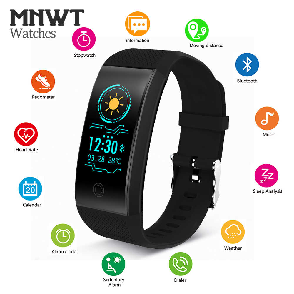 MNWT Smart Watch Fitness Pedometer Heart Rate Monitor IP68 Waterproof Wristwatches Men Women Running Sport Watch For Android IOS