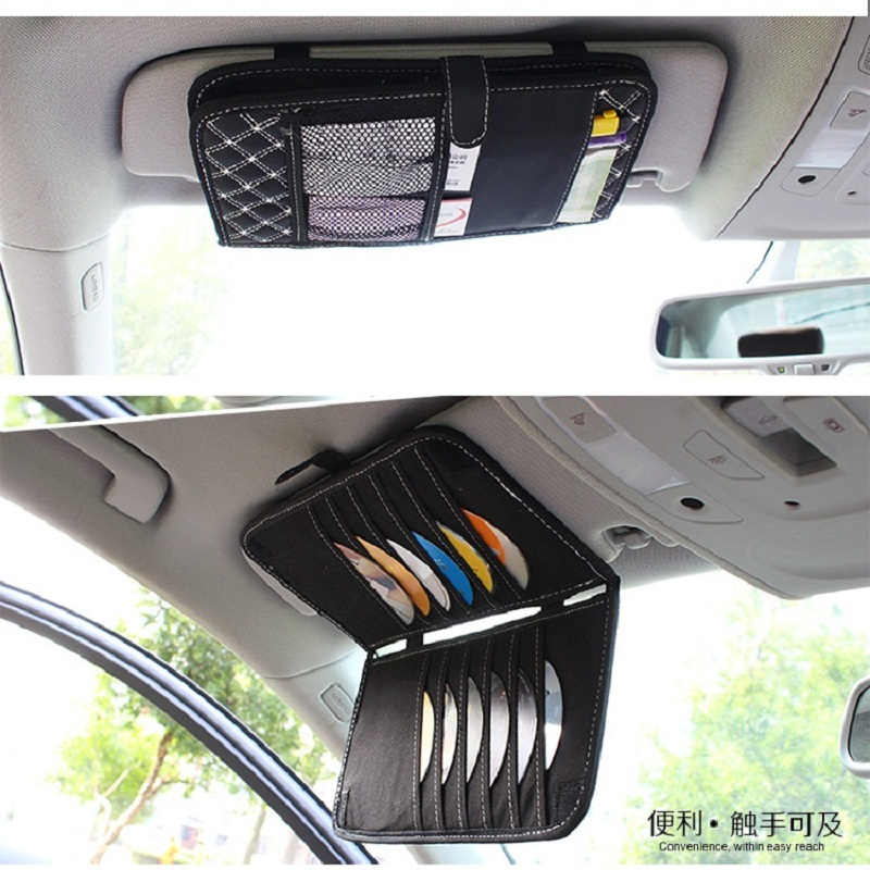 CD DVD Disc Storage Bag Organizer Holder Sleeve Case Double Layer Carry Bags Cards Pouch Universal Auto Product