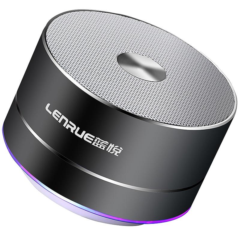 LENRUE Portable Wireless Bluetooth Speaker Stereo Mini Portable Speakers MP3 MINI Subwoof Smart Loudspeaker portable stereo bluetooth speaker gold