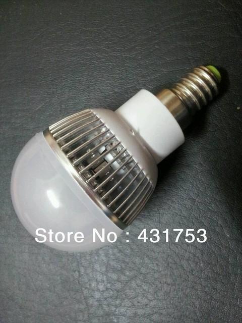 Free shipping 5x CREE High Power E14 3*3W Led Bulb Lamp AC85~265V CE&ROHS Cool/Warm white 2 Years warranty 9W Led Light Bulb