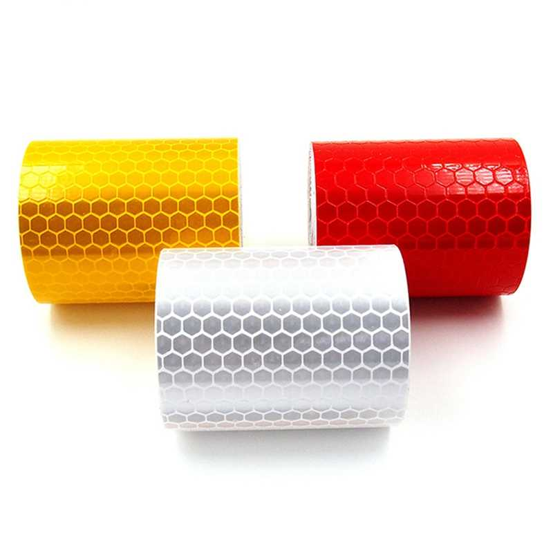5x100cm Universal Car Waterproof Pure Color Reflect Light Safety Security Warning Reflective Tape Sticker Self Adhesive Tape