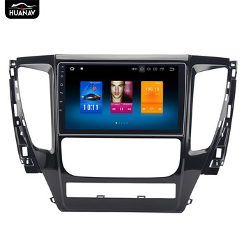 9 touch screen Android8.0 Car DVD player GPS navigation for Mitsubishi Pajero sport 2016 2017 Auto radio multimedia player DSP image
