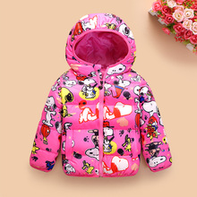 Kids Clothes Winter Down Jacket Boys Costume Hooded Cartoon Snoopie Girls Down Coat Children Clothing Baby Down Clothing