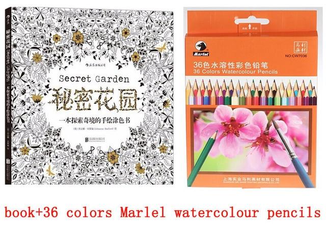 28 22 Jardin Secret Crayon Aquarelle à Colorier Livre Jardim Sécréto Livres à Colorier Pour Adultes Livre Crayon à Colorier De