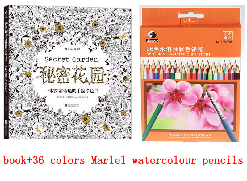 secret Garden+coloring watercolor pencil, jardim secreto book ...