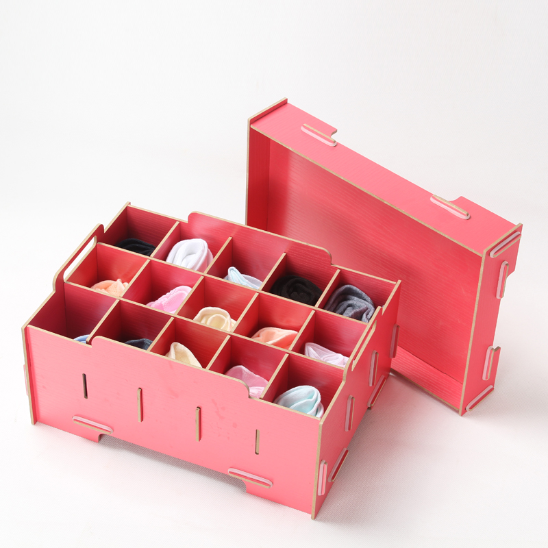DIY High Quality Wooden storage box Container Drawer Divider Lidded Closet Boxes For Ties Socks Bra Underwear Organizer-in Storage Boxes u0026 Bins from Home ... & DIY High Quality Wooden storage box Container Drawer Divider Lidded ...