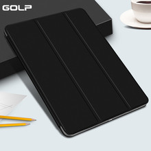 купить Case for iPad Mini 4 3 2 1 Case GOLP PU Leather Hard PC Back Trifold Stand Sleep Smart Cover for iPad Mini 2 5 2019 Case Funda дешево