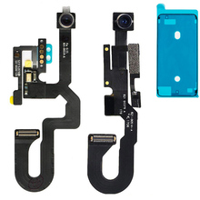 Faceกล้องด้านหน้าที่มีเซนเซอร์และไมโครโฟนFlex Cable + สติกเกอร์กันน้ำสำหรับiPhone 7 7 Plus