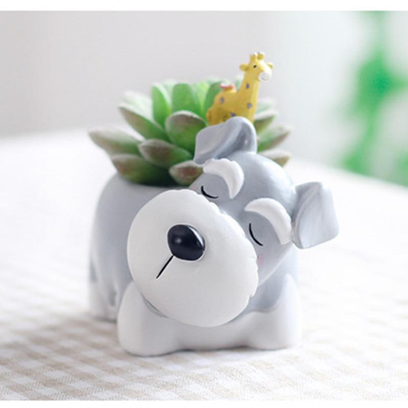 Image 3 - Succulent Plant Pot Cute Animal Flower Planter Flowerpot Create Design Lovely Little Animals Home Garden Bonsai Pots-in Flower Pots & Planters from Home & Garden